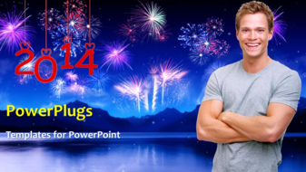 PowerPoint Template - New Year 2014 concept